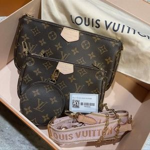 New L★V Multi Pochette Brown Monogram Crossbody Bag